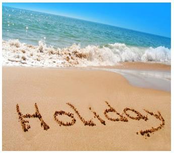 Yaz tatil sahil plaj kumsal mavi deniz kumluk