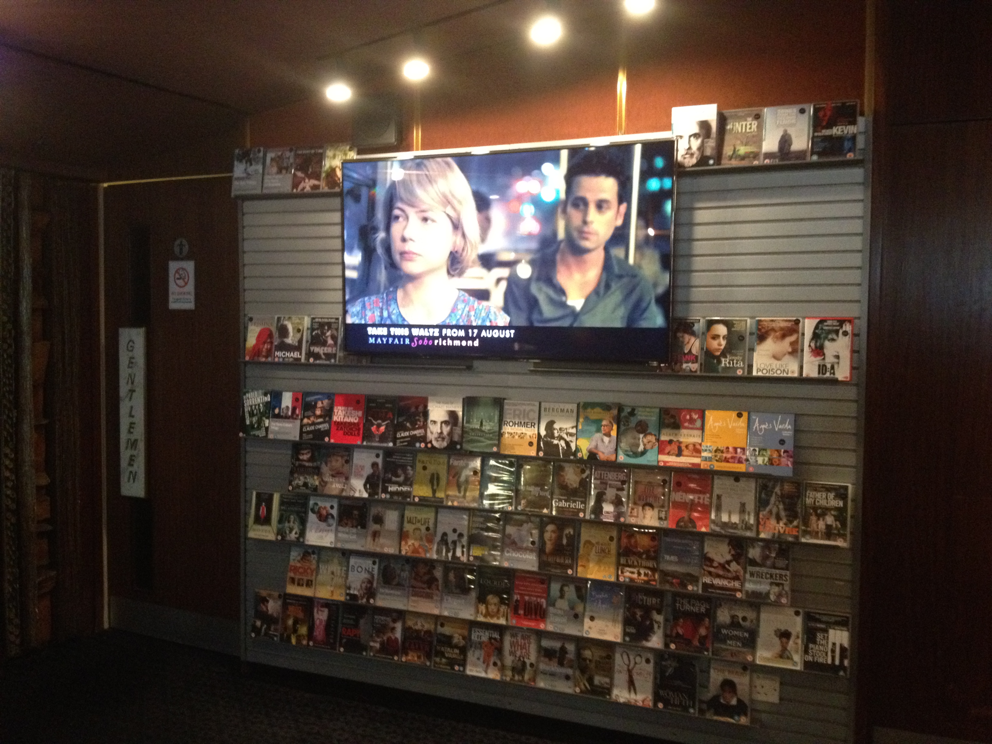 "DVD stand with the lovely ""Take This Waltz"" trailer (Photo: Filiz Taylan Yuzak)"